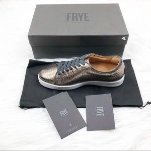 Frye Alexis Sneaker Bronze Lizard Leather New